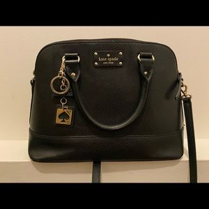 Kate Spade classic black with logo key ring